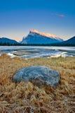 Góra Rundle w Banff parku narodowym, Kanada Zdjęcie Stock