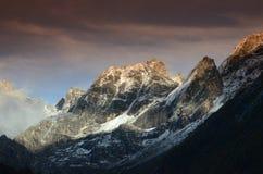 Góra Siguniang w Porcelanowego tybetańczyka Qiang Autonomicznej prefekturze Ngawaï ¼ ˆAbaï ¼ ‰ Obraz Royalty Free