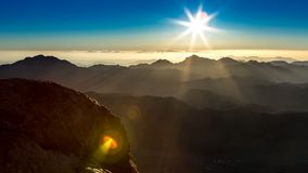Góra Synaj, góra Mojżesz w Egipt zdjęcia royalty free