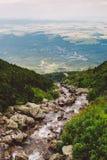 Góra, szczyt, wysoki Tatras, lato, Sistani Fotografia Stock