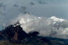 Góra w burzy Fotografia Royalty Free