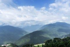 Góra w chmurze Fotografia Royalty Free