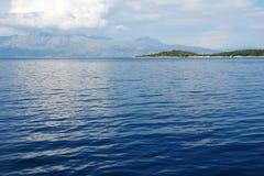 Góra w Ionian morzu i wyspa Zdjęcie Stock