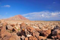 Góra w kamiennej pustyni obraz stock