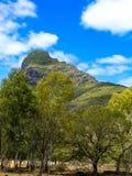 Góra w safari z niebieskim niebem, krajobraz Zdjęcia Royalty Free