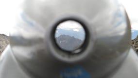 Góra widzieć przez teleskopu Zdjęcie Royalty Free