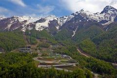 Góra wokoło Rosa Khutor Fotografia Stock
