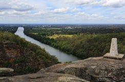 Góra Wrotny punkt obserwacyjny, Australia obraz stock