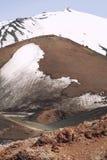 Góra wulkanu Etna śnieg zakrywający szczyt Sycylia włochy Zdjęcia Royalty Free