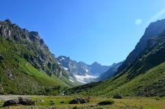 Góra wycieczkuje w Kaukaz Obrazy Royalty Free