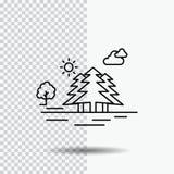 Góra, wzgórze, krajobraz, natura, chmury Wykłada ikonę na Przejrzystym tle Czarna ikona wektoru ilustracja royalty ilustracja