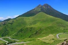 Góra Yufu, Yufuin, Oita, Japonia Fotografia Stock