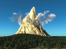 Góra z lasem Zdjęcia Royalty Free