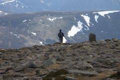 Góra Zapalony szczyt Cairngorm góry, Aberdeenshire, Szkocja obraz stock