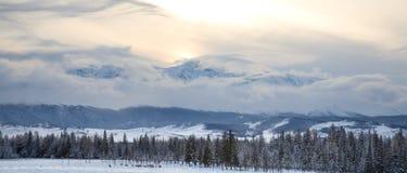 góra zmierzch Zdjęcie Stock