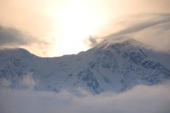 góra zmierzch Obrazy Royalty Free