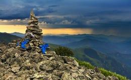 góra zmierzch Zdjęcia Stock