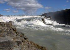Górna część Gullfoss siklawa Zdjęcie Stock