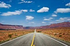 Górna Kolorado sceniczna trasa blisko Moab Obraz Stock