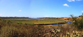 Górna Newport zatoki natury prezerwa wycieczkuje ślad meandruje wzdłuż m Zdjęcia Stock
