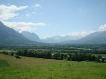 Górna Rhine dolina - Liechtenstein Obrazy Royalty Free