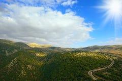 Górne Galilee góry Północny Izrael Obrazy Stock