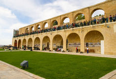 Górni Barrakka ogródy w Valletta, Malta Obraz Stock