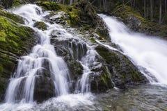 Górni Jeziorni Kananaskis spadki Fotografia Royalty Free