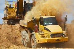 Górnicza usyp ciężarówka zdjęcie royalty free