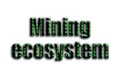 Górniczy ekosystem Inskrypcja teksturę fotografia która przedstawia zielonych usterka symbole, zdjęcie royalty free