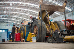 Górniczy maszynowy sklep Obraz Royalty Free