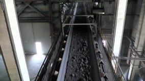 Górniczy zakładu przetwórczego widok inside zbiory wideo