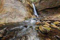 Górników spadki przy Opisanym skała obywatelem Lakeshore - Górny Penins Obraz Royalty Free