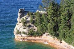 Górnika kasztel przy Opisanymi skałami Fotografia Royalty Free
