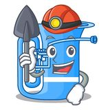 Górnika tuba w kształt śmiesznej kreskówce ilustracja wektor