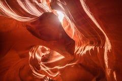 Górny antylopa jar jest czerwonym piasek skały jamą na pustyni, it& x27; s lokalizujący w stronie, Arizona, Zlany stan Ameryka obraz royalty free