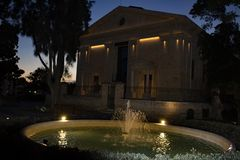 Górny Barrakka ogródów los angeles Valletta Malta przy nocą obrazy royalty free