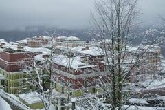 Górny Gorky Gorod - sezon miejscowość wypoczynkowa 960 metrów nad poziom morza Zdjęcia Stock