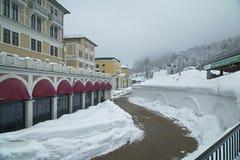 Górny Gorky Gorod - sezon miejscowość wypoczynkowa 960 metrów nad poziom morza Zdjęcie Stock