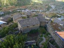 Górny Pisang, Nepal zdjęcie royalty free