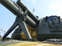 Górny Pyshma Rosja, Lipiec, - 02, 2016: 152 mm samojezdnego granatnika 2S19 ` - eksponat muzeum militarny wyposażenie Fotografia Royalty Free