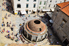 Górny widok stary kościół w Dubrovnik Starym miasteczku Zdjęcia Stock