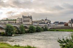 Górska chata Amboise na rzecznym Loire Zdjęcia Royalty Free