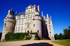 Górska chata De Brissac jest jeden piękni kasztele górskiej chaty de los angeles Loire zdjęcia royalty free