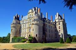 Górska chata De Brissac jest jeden piękni kasztele górskiej chaty de los angeles Loire zdjęcie stock