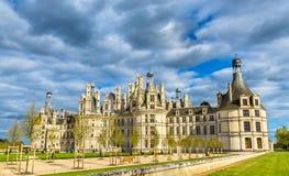 Górska chata De Chambord wielki kasztel w Loire dolinie - Francja fotografia stock