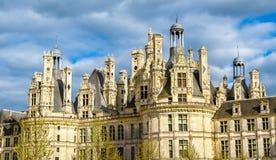 Górska chata De Chambord wielki kasztel w Loire dolinie - Francja zdjęcia royalty free
