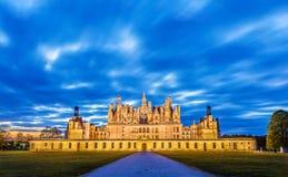 Górska chata De Chambord wielki kasztel w Loire dolinie - Francja zdjęcie royalty free