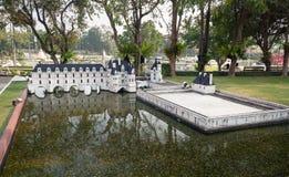 Górska chata De Chenonceau w Mini Siam parku Obraz Royalty Free