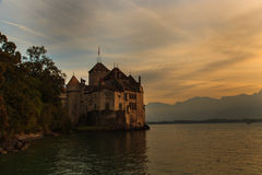 Górska chata De Chillon Obrazy Stock
